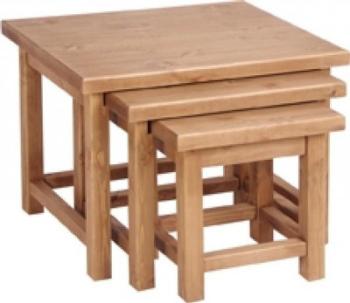 Tuscany Nest of Tables Wax Finish