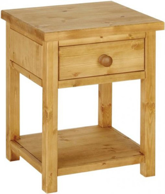 Tuscany Bedside Night Stand Wax Finish