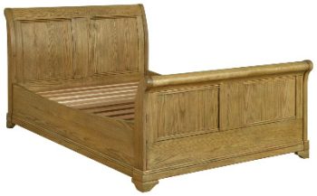 Versaille Bed Double Sleigh Oak