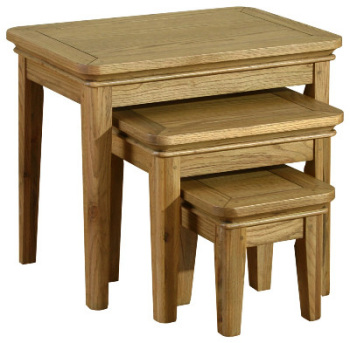 Versaille Oak Tables Nest of 3