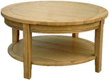 Versaille Oak Coffee Table Round