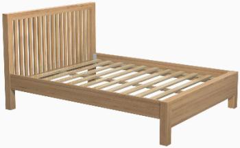 Roma Oak Bed Double