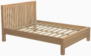 Roma Oak Bed Kingsize
