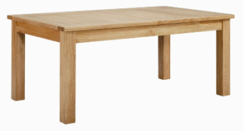Roma Oak Table Small Extending Dining
