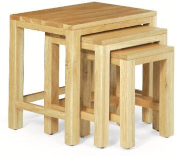 Roma Oak Tables Nest of 3