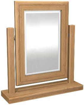 Roma Oak Mirror Dressing Table Swing