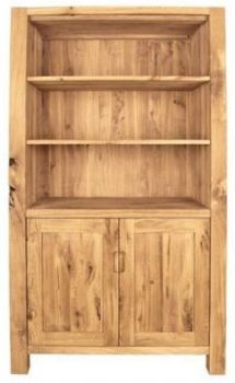 Driftwood Bookcase With Cupboard