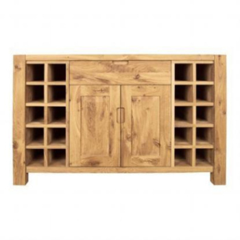 DISCONTINUED Driftwood Wine Rack 2 Door