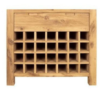 DISCONTINUED Driftwood Wine Rack 1 Drawer