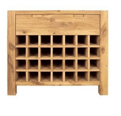 Driftwood Wine Rack 1 Drawer