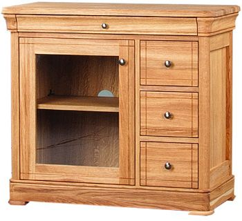 Como Cabinet 3 Drawer CD/DVD Unit with Glass Doors