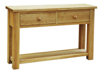 Lauriston Table 2 Drawer Console Solid Oak
