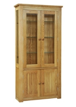 Lauriston Cabinet Glazed Display Solid Oak