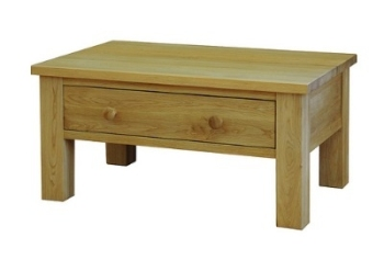 Lauriston Table Coffee with Drawer Solid Oak