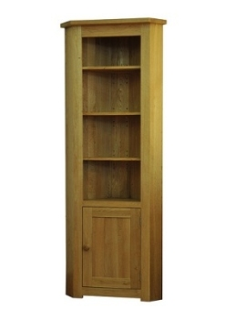 Lauriston Bookcase Corner Solid Oak