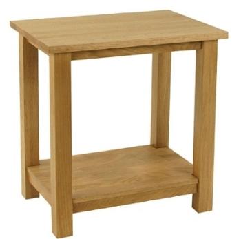 New England Oak Lamp Table