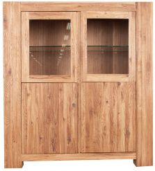 Loft Glazed Display Unit Solid European Oak Oil Finish