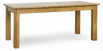 Roma Oak Table 1.5 m Fixed Top Oak Dining