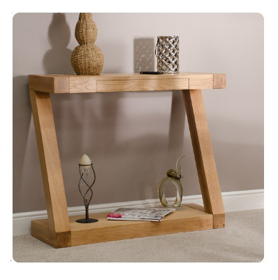 Zee Oak Hall Table