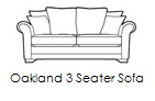 oakland 3 seater sofa n