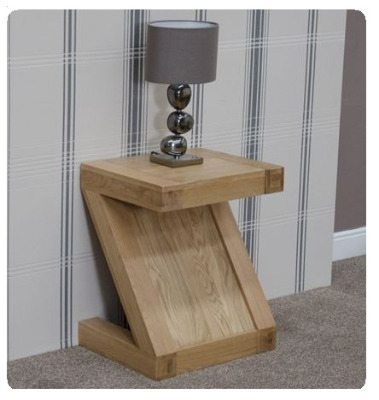 Zee Oak Lamp Table