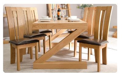 Zee Oak Dining Table 1200x900