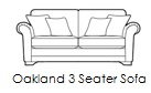 oakland 3 seater sofa v