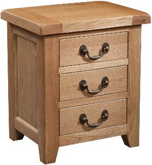 Windermere Oak Bedside 3 Drawer