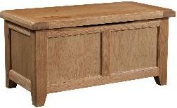 Windermere Oak Blanket Box
