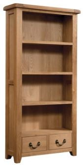 Windermere Oak Bookcase 900w x 1800h