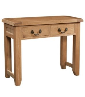 Windermere Oak Console Table 2 Drawer