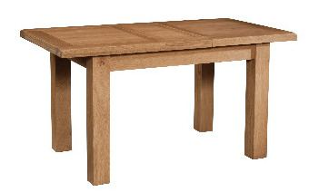 Windermere Oak Dining Table with 1 Extension OPEN