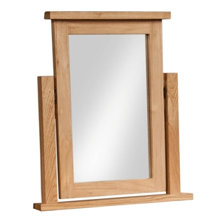 New Amber Oak Dressing Table Mirror