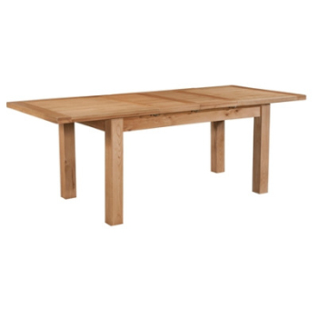 New Amber Oak Dining Table Medium Extending with 2 Leaf