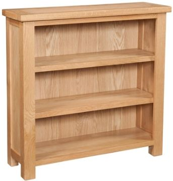 New Amber Oak Bookcase 3'