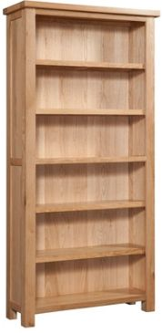 New Amber Oak Bookcase 6'
