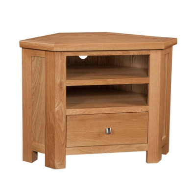 New Amber Oak Corner TV Unit