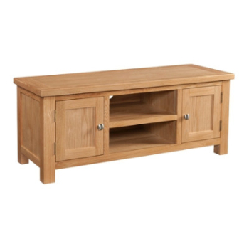 New Amber Oak Large TV Unit