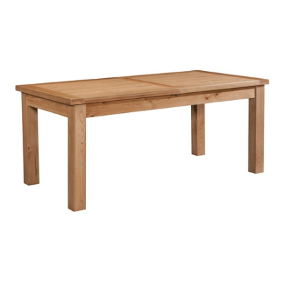 New Amber Oak Table Large Extending Dining with 2 Leaf