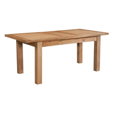 New Amber Oak Table Standard Extending Dining with 1 Leaf