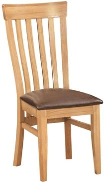 New Amber Oak Chair Toulouse Dining Chair