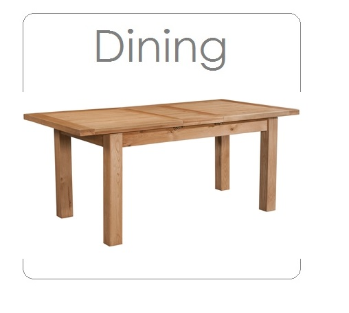 1windermere oak dining table (1 leaf) - shown extended - extends to 1500mm