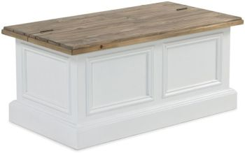 Monpellier Coffee Table Storage  / Blanket Box Reclaimed