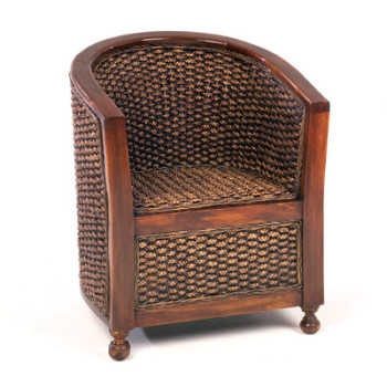 East Indies Chair Wooden Arm Tub