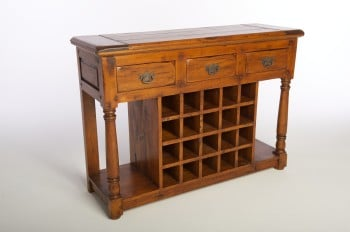 East Indies Table Console Wine Rack
