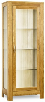 Roma Oak Glazed Display Cabinet
