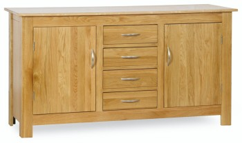 Roma Oak Sideboard 2 Door 4 Drawer