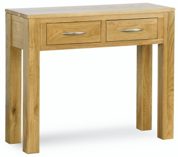 Roma Oak Table Console with Drawers