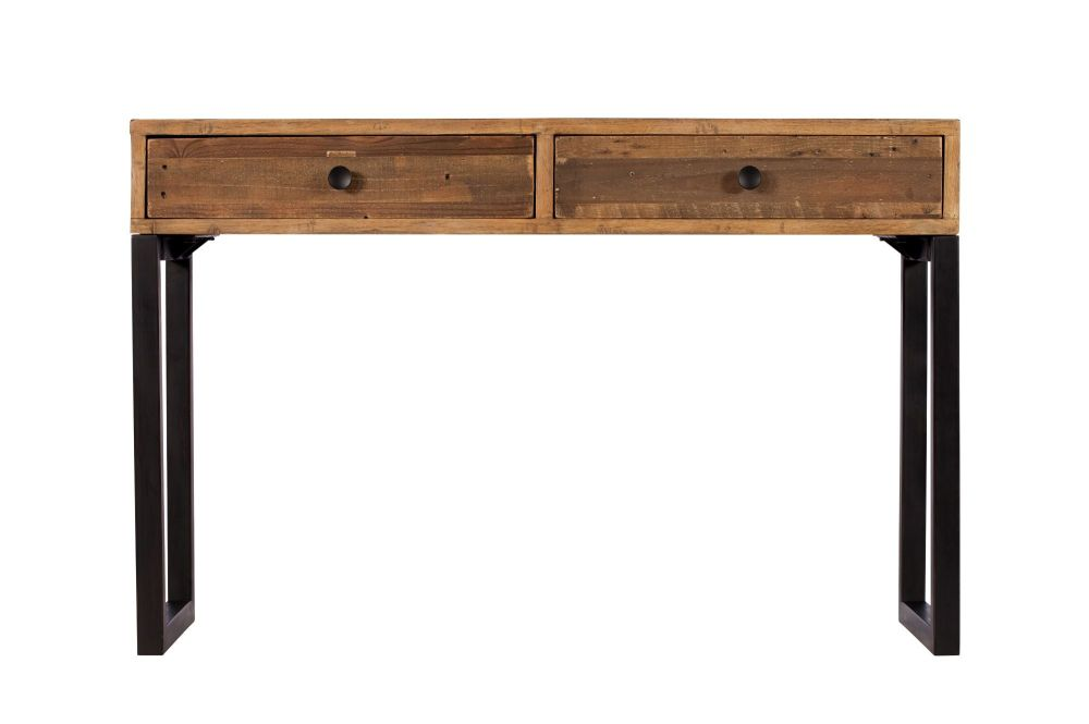 Retro Console Table 2 Drawer