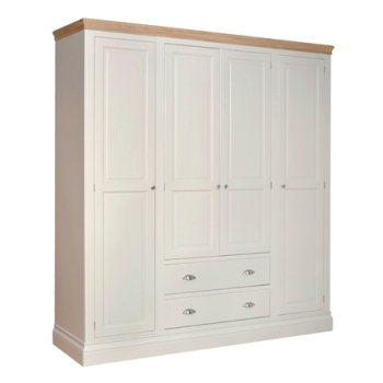 Lundel wardrobe Quad with Drawers